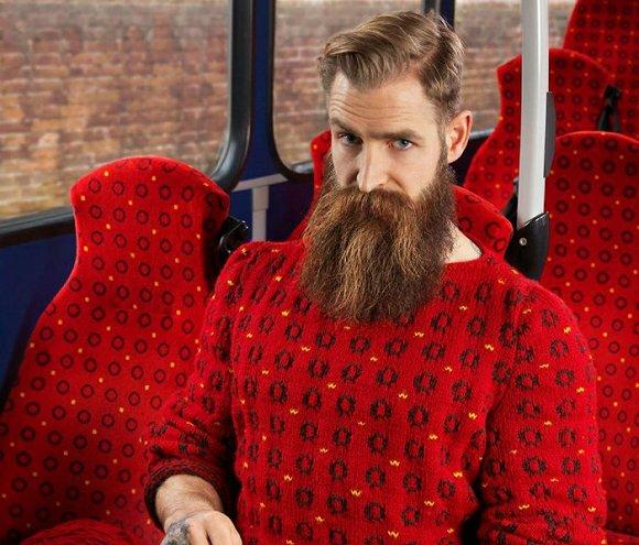 【图赏】想要出其不意 英国摄影师靠伪装针织衫隐身