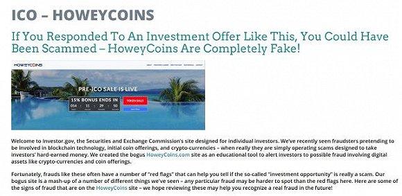 为了教育投资者,SEC煞费苦心建了一个假的ICO网站